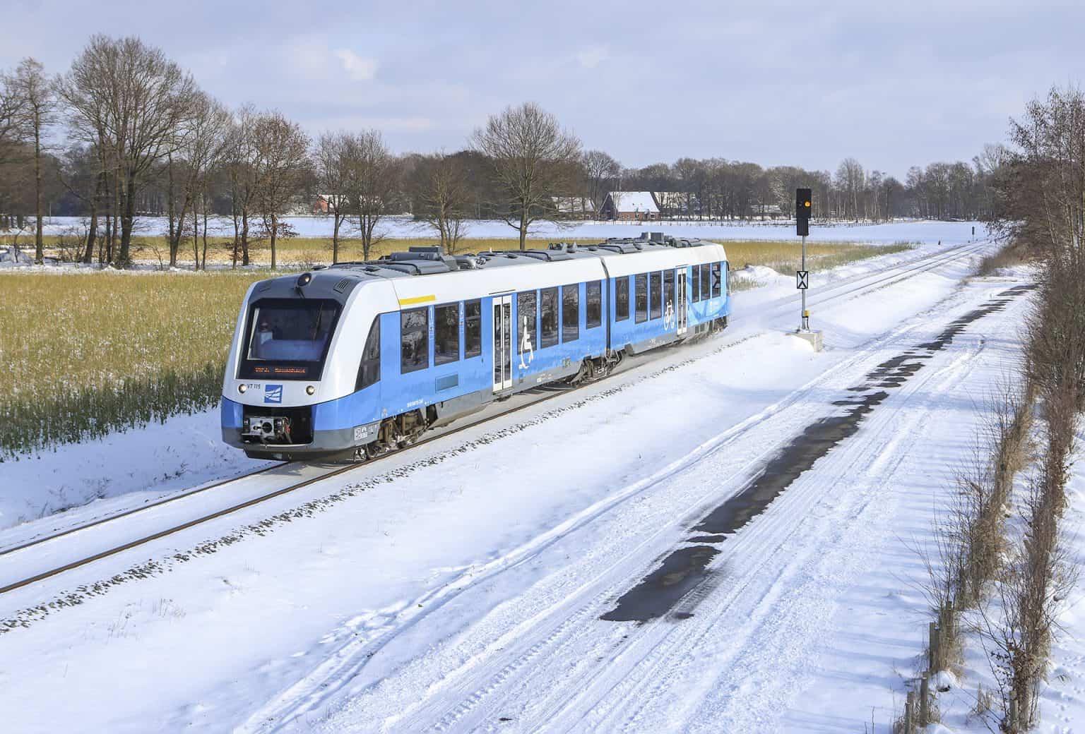 BE VT 115 rijdt nabij Hestrup richting Neuenhaus, 9 februari 2021.-GF.