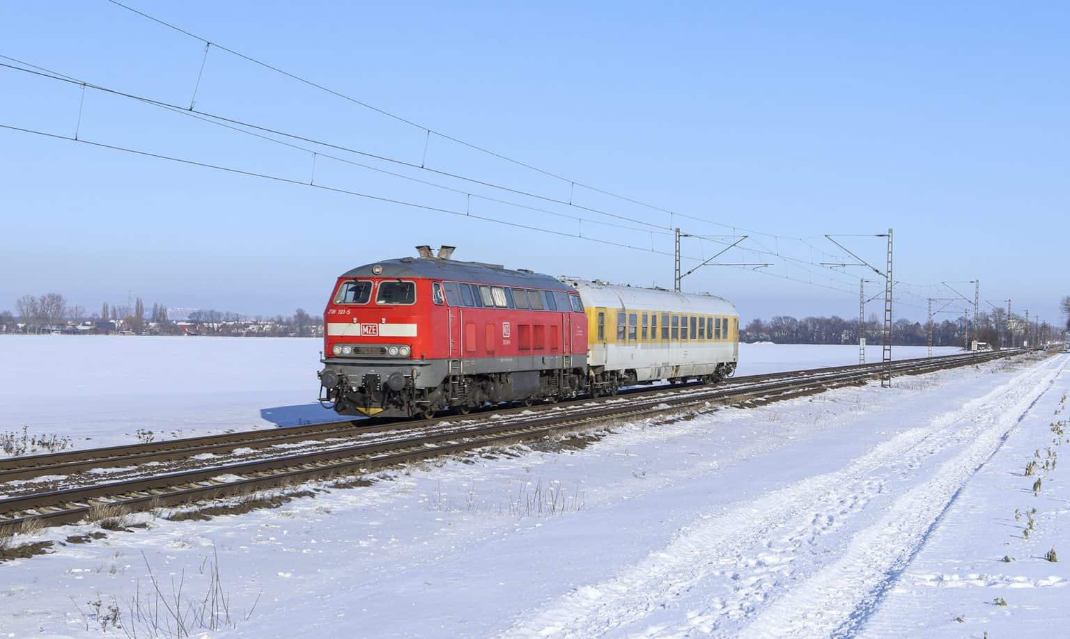 MZE 218 191-5 met meettrein bij Vornhagen, 13-02-2021.-GF.
