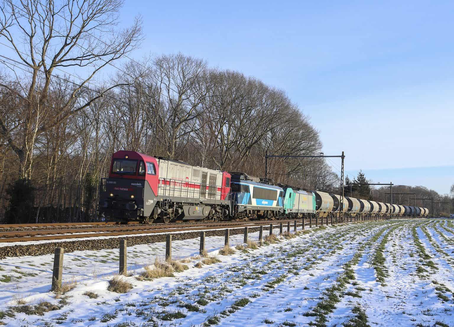 IRP 2104 + TCS 101001 _ Lineas 2841 als lege dolimetrein 47627 in Nijkerk, 14-02-2021.-GF